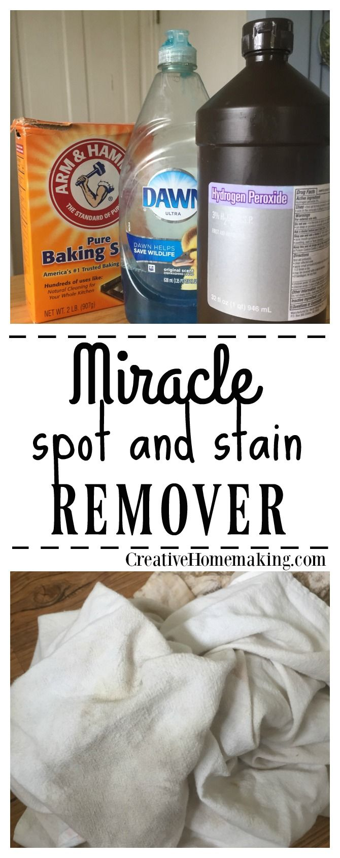 Throughout the years I have tried many methods of removing stains from clothing. This homemade spot remover really does the job, and it is very inexpensive and easy to make.