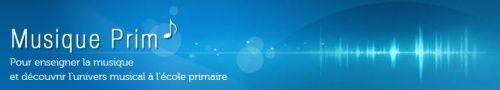 Musique Prim. Site réservé aux enseignants.     Possibilité de télécharger des partitions, des chansons, des instrumentaux.