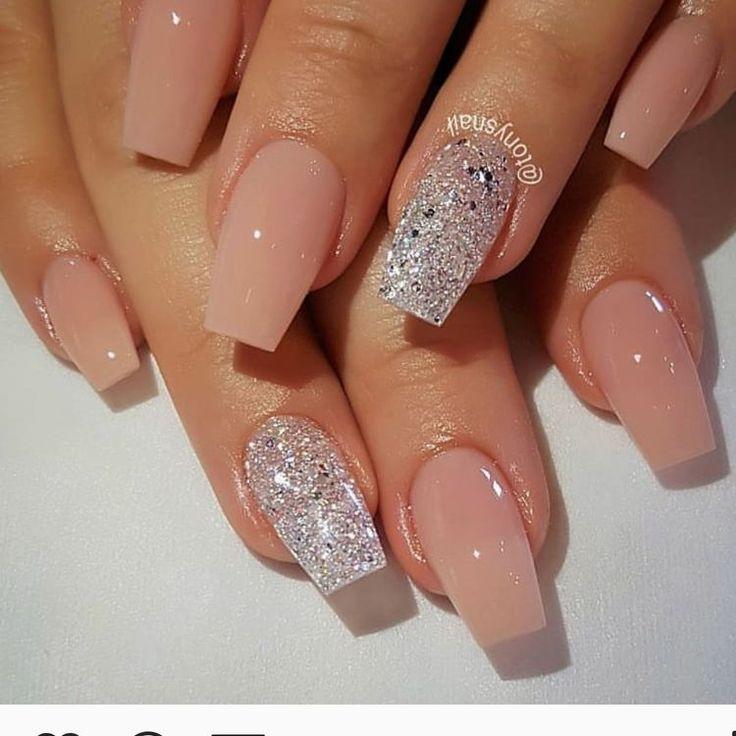 natural acrylic nail design
