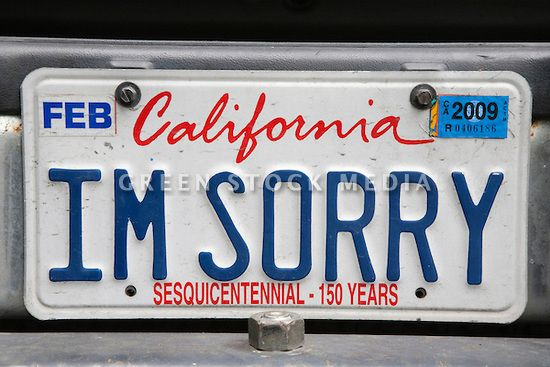 Gallery For > California License Plate On Car