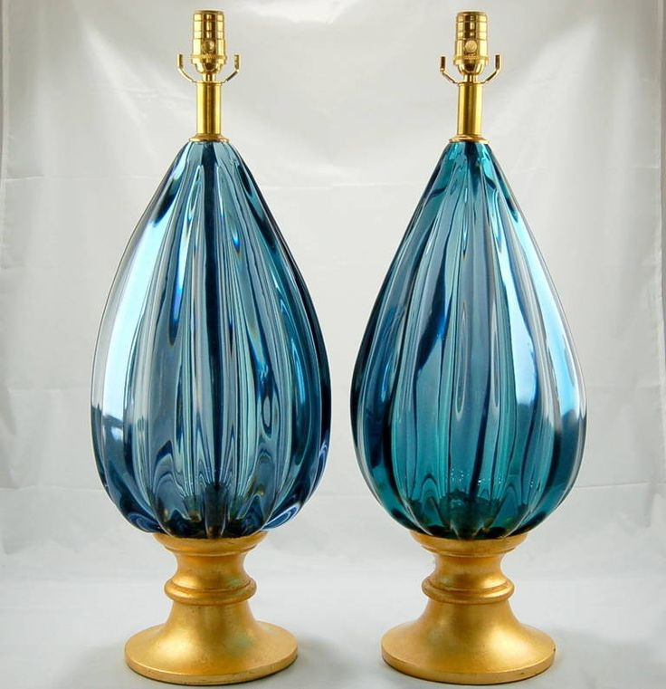 Pair of Massive Vintage Murano Lamps by Archimede Seguso for The Marbro Lamp Co image 2
