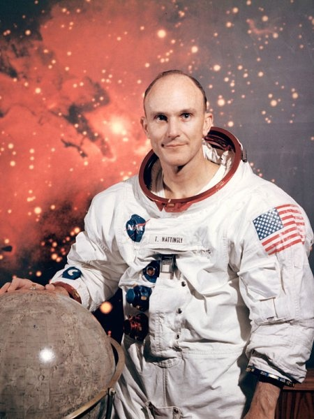 Ken Mattingly - AU grad & astronaut (whom Gary Sinise portrayed in the movie Apollo 13).