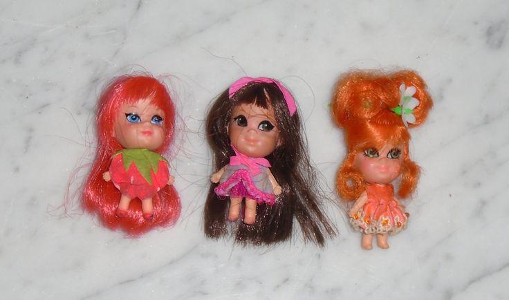 3 Vintage Mattel Liddle Kiddle Dolls ~ Orange Blossom Shirley Strawberry Loretta Locket by BooksShop on Etsy https://www.etsy.com/listing/460802666/3-vintage-mattel-liddle-kiddle-dolls