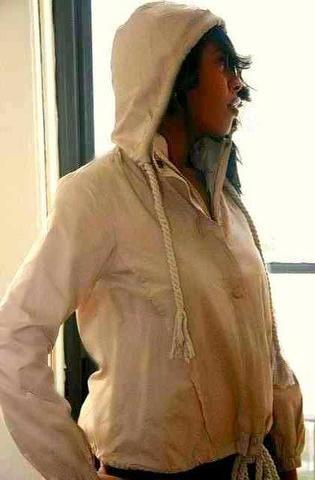 Beige Women Hoodie Jacket-Matching Dog Owner Outfit - Eshays, LLC | Eshays, LLC