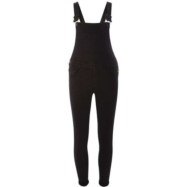 Dorothy Perkins Petite Washed Black Dungarees (36 CAD) ❤ liked on Polyvore featuring jumpsuits, black, petite, petite jumpsuit, dorothy perkins and cotton jumpsuit