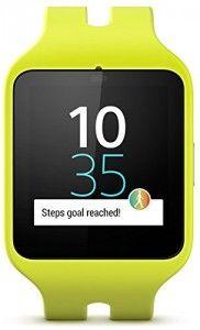 Sony Mobile SWR50 SmartWatch 3 Montre Fitness et Tracker d'Activité Compatible avec Android 4.3  Smartphones – Vert Citron