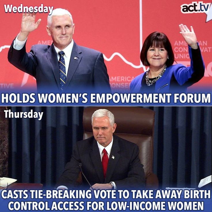 You can't have it both ways. In fact, you can't have the choice of misogyny at all. Pence, how dare you?! No conscience, no soul.
