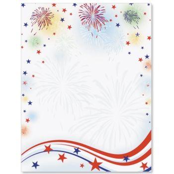 letter paper more fireworks letter borders stationary letterhead paper ...