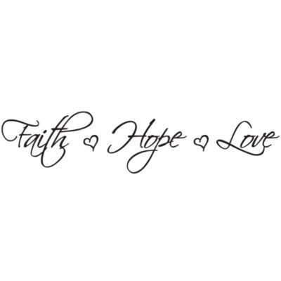 Faith Hope Love Vinyl Wall Decal Set Bedbathandbeyond