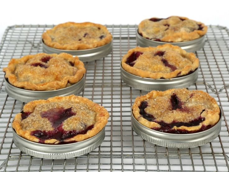 Blueberry-Peach Mason Jar Lid Pies recipe from Food Network Kitchen via Food Network