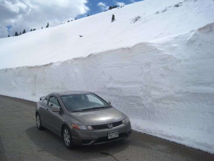 Tall Snow Drifts On Chaffee County Road 306 At Cottonwood Pass. All Photos:  Http