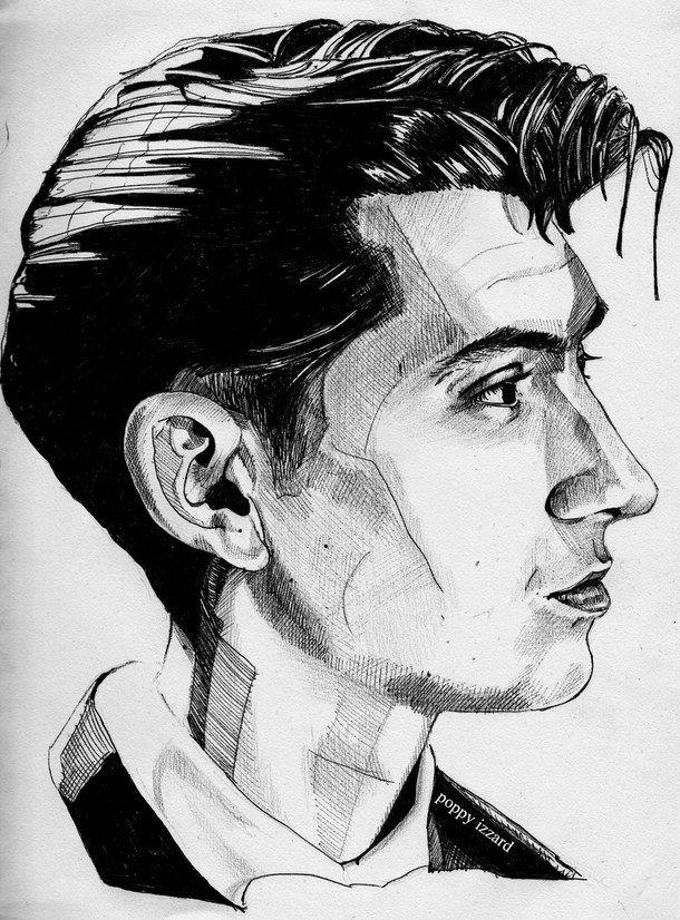 Алекс Тернер, Arctic Monkeys, нарисованное