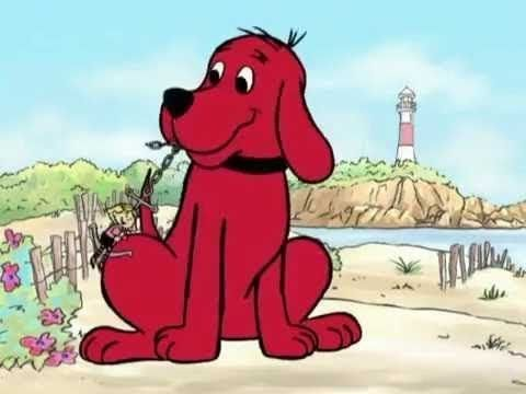 Clifford de cachorrito   Leyendo