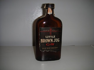 Gooderham and Worts Little Brown Jug Rye 1954 tax stamp Home Reno Nation: A 1954 Whiskey Bottle History Lesson!