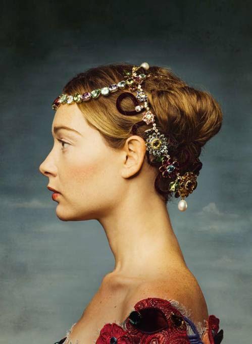 Italian actress Cristiana Capotondi in a picture by Maki Galimberti for the magazine Sette.
