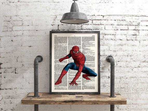 Spiderman Poster, Marvel Art, Superhero Art, Avengers, Geek Poster, Kid's Room Decor, Playroom Decor, Comic Art, Geekery, Wall Art Print,133