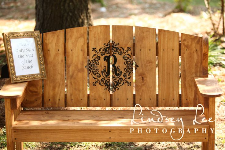 Signing Bench, unique guest book idea www.thesaratogasprings.com http://vimeo.com/86074145