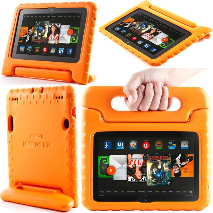 Toddler proof case for Kindle Fire HDX 7.  i-blason ArmorBox Kido Series is lightweight case with carrying handle that will double as a stand.