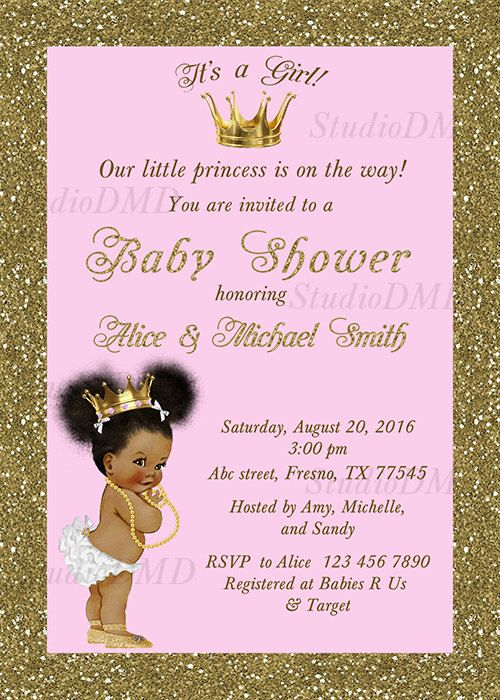 Princess Baby Shower Invitation Little Princess Baby Shower