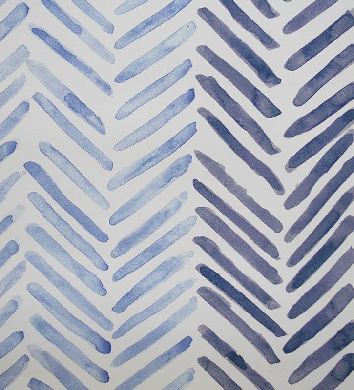 Herringbone wallpaper that creates a Blue striped wallpaper. printed in the UK by OccipintiOccipinti