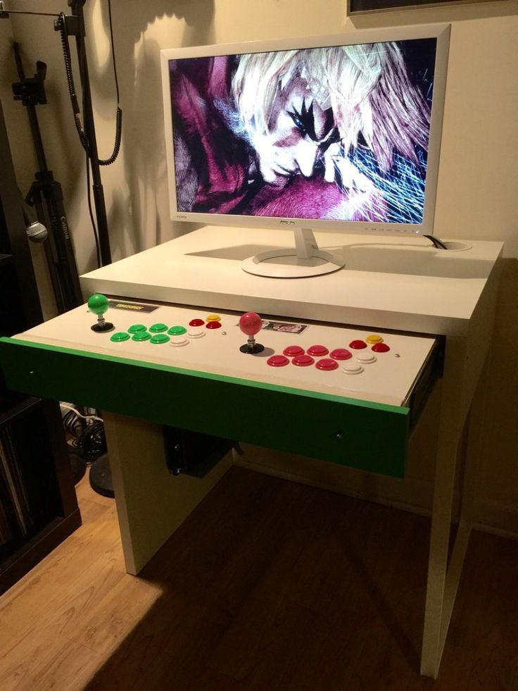 487 best arcade builds images on pinterest videogames for Ikea table d arcade