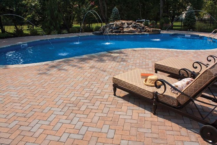 Pool Deck In Ep Henry Coventry Brick Stone Herringbone