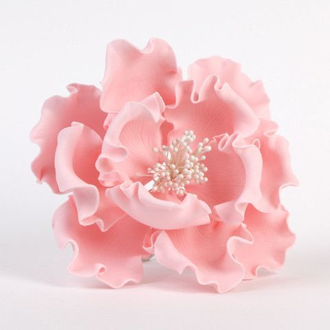 """Buy online Pink Gumpaste Extra Large Peony sugarflower cake toppers perfect for cake decorating rolled fondant wedding cakes and birthday cakes.  Extra Large 6"""" Peonies"""