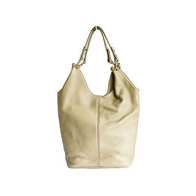 Roberta Italian Beige Leather Hobo Bag - £59.99