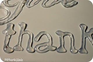 How to make 3-dimensional lettering with a glue gun and household supplies. Brilliant!