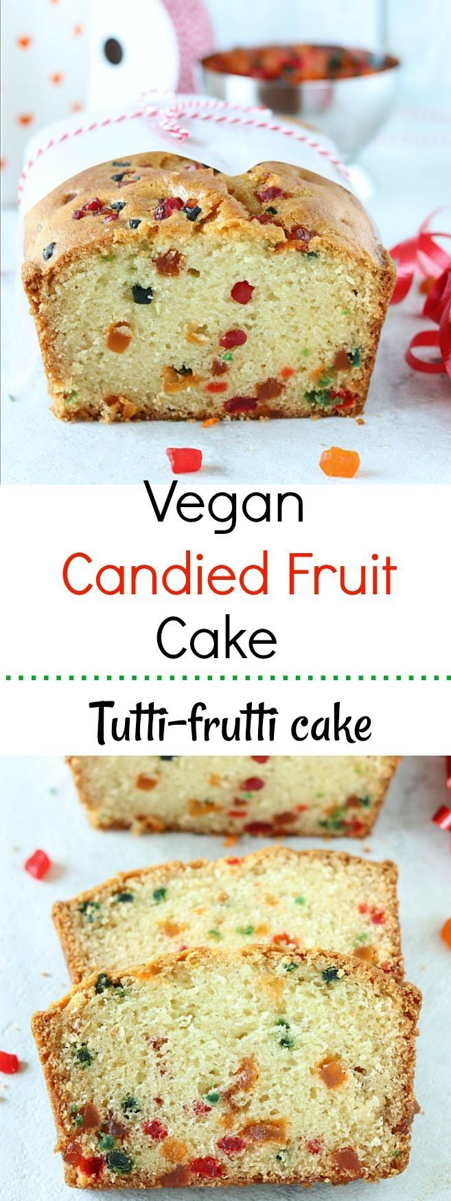 This Vegan Tutti Frutti Cake is insanely good, incredibly-moist, so amazingand utterly delicious. A vegan version of a classic favorite made with candied fruits – theperfect after school snack !