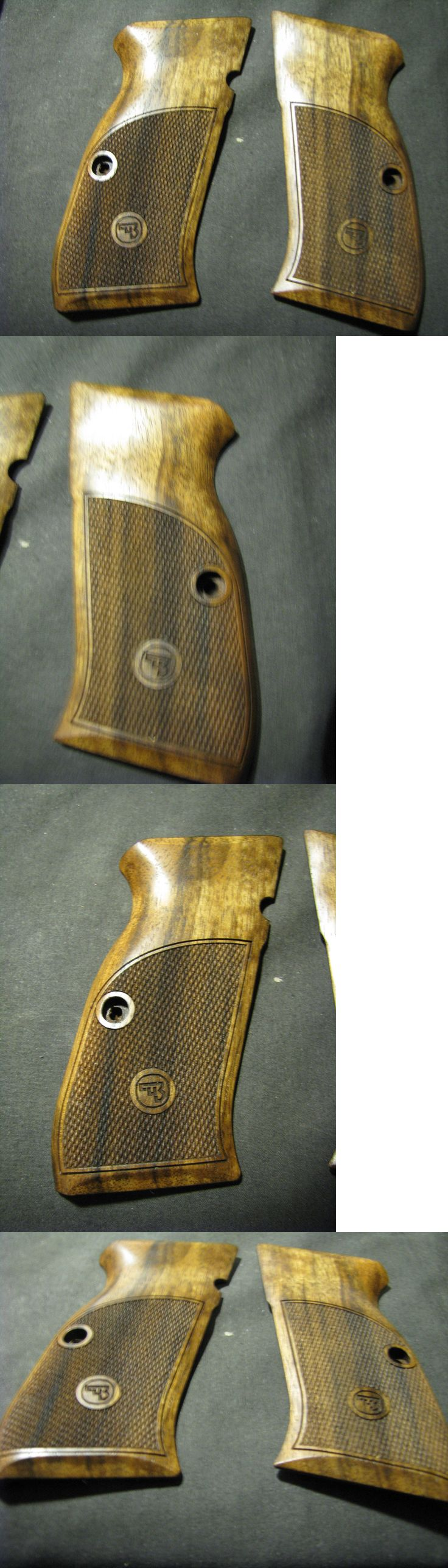Other Hunting Accessories 52509: Cz-97 Cz-97 Fine English Walnut Checkered Pistol Grips W/Logo Beauty! New Grip! -> BUY IT NOW ONLY: $89.95 on eBay!