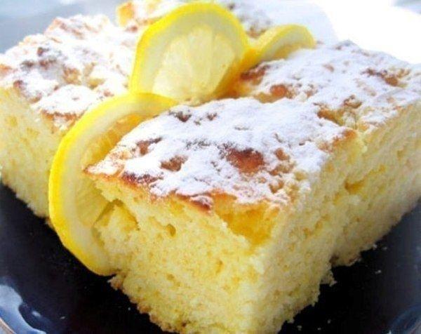 Как приготовить легкие лимонные пирожные - рецепт, ингридиенты и фотографии