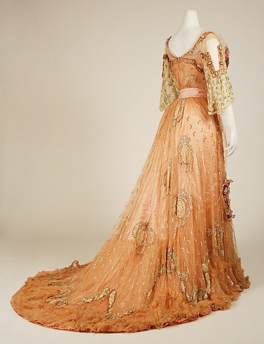 Edwardian gown-a bit over the top, but why not?