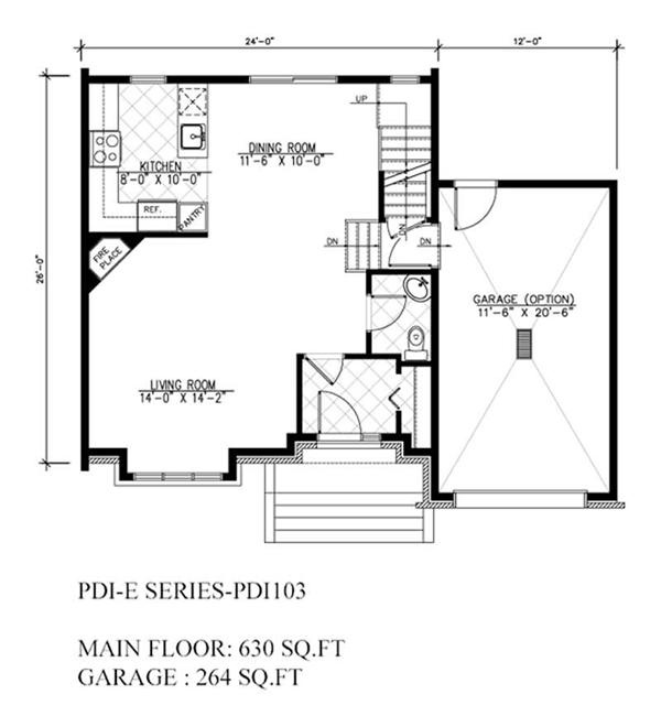 Floor plan first story garage apartment house plans for Garage apartment plans with deck