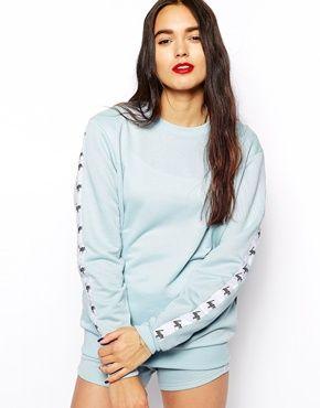 Hype Sweatshirt With Tape Logo Detail