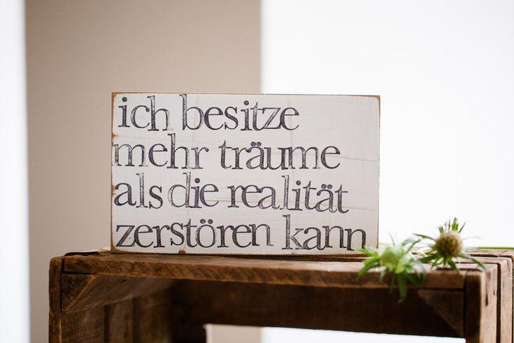 """Bilderrahmen - Text Wandbild """"Realität"""" aus Holz - ein Designerstück von iopla bei DaWanda"""