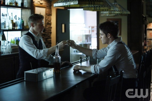 """""""Do Not Go Gentle"""" THE VAMPIRE DIARIES Pictured (L-R): Zach Roerig as Matt and Steven R. McQueen as Jeremy. Quantrell D. Colbert/The CW ©2012 THE CW NETWORK. ALL RIGHT RESERVED."""