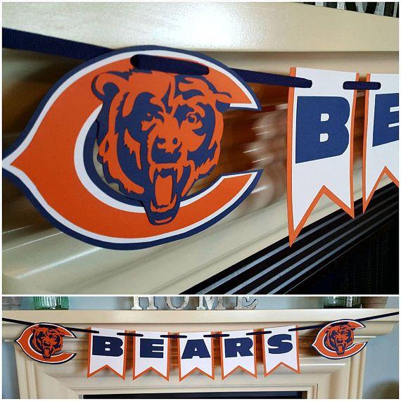 Chicago Bears banner  https://www.etsy.com/listing/528068440/chicago-bears-banner-game-day-football