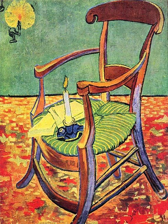 Canvas. Paul Gauguin's Chair by Van Gogh