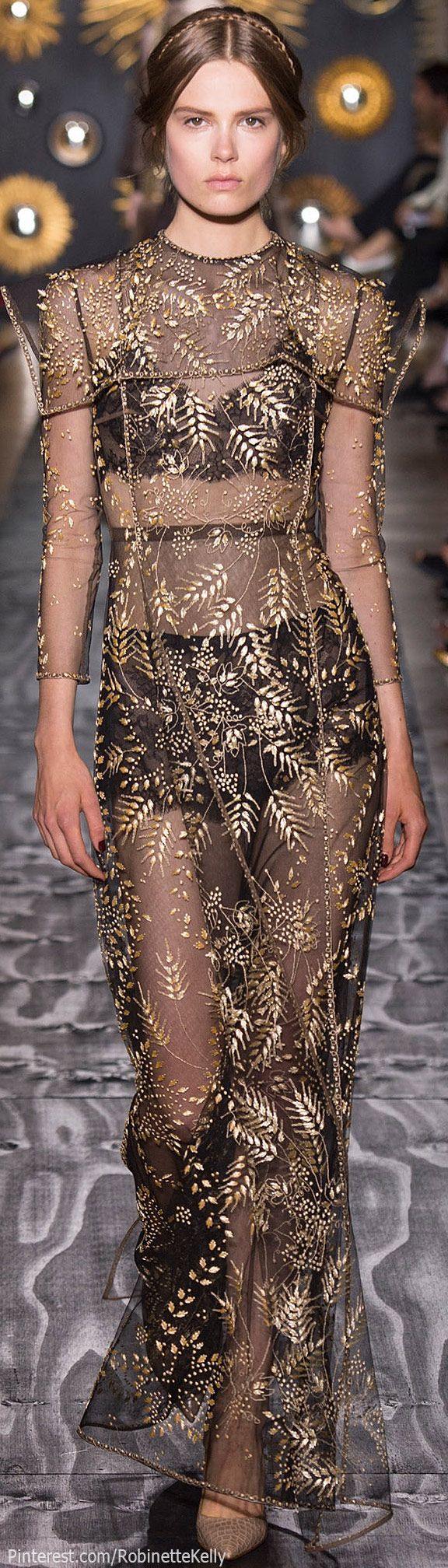 Valentino Haute Couture visible panty line and bra line.