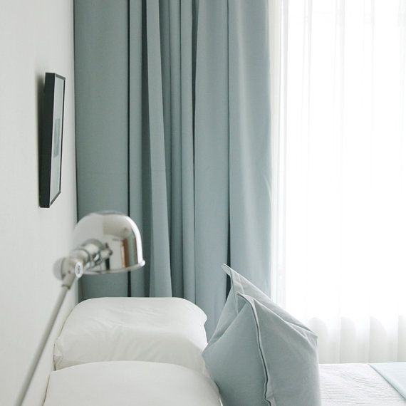 Walmart Drapes And Curtains Duck Egg Blue Headboard