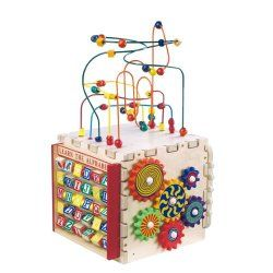 """ANATEX DELUXE MINI PLAY CUBE  the play cube of all toddler play cubes. Cool Aunt refers to this as the """"King"""" of toddler toys. it's packed with buzzies, whizzers, whodads, and whatchamacalits that little kids will absolutely adore."""