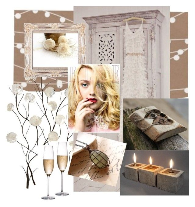 Rustic wedding by artemisfantasy on Polyvore featuring interior, interiors, interior design, home, home decor, interior decorating, Rogaska, Universal Lighting and Decor and rustic