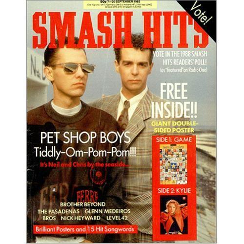 Pet Shop Boys Smash Hits September 1988 UK magazine