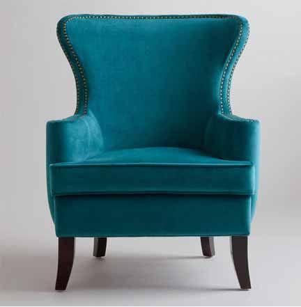Best Teal Velvet Chair World Market Teal Modern Wingback 400 x 300