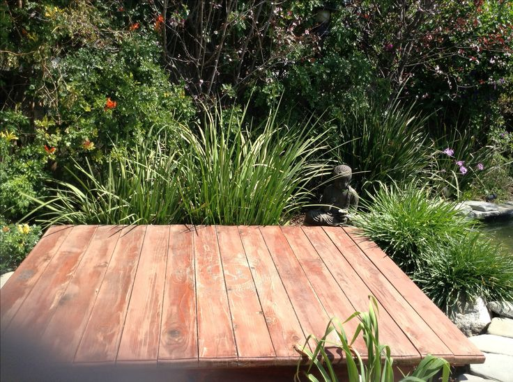 I would love a simple outdoor platform for yoga like this one!