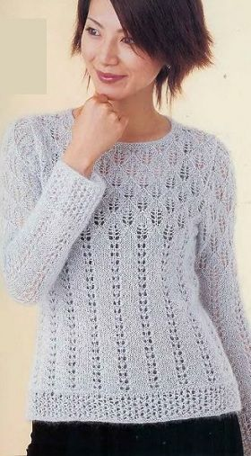 BLANCO Calado suéter de mohair. Debate Sobre LiveInternet - Servicio RUSOS Diarios Online