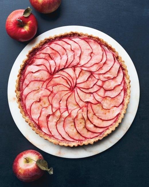 Pink-applesauce tart from Martha Stewart Living Magazine, October 2014