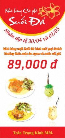 Lễ 30/4 và 1/5 này bạn đi đâu? Ghé Nhà hàng Cafe Suối Đá và Vườn Xuân để được thưởng thức những món ăn ngon và thức uống chỉ với 89.000đ nhé!