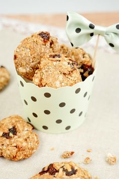 Rezept für Gesunde Haferflocken-Kekse mit Trockenpflaumen und Kokosflocken